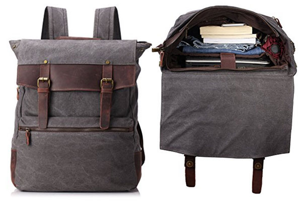 mens backpack canvas