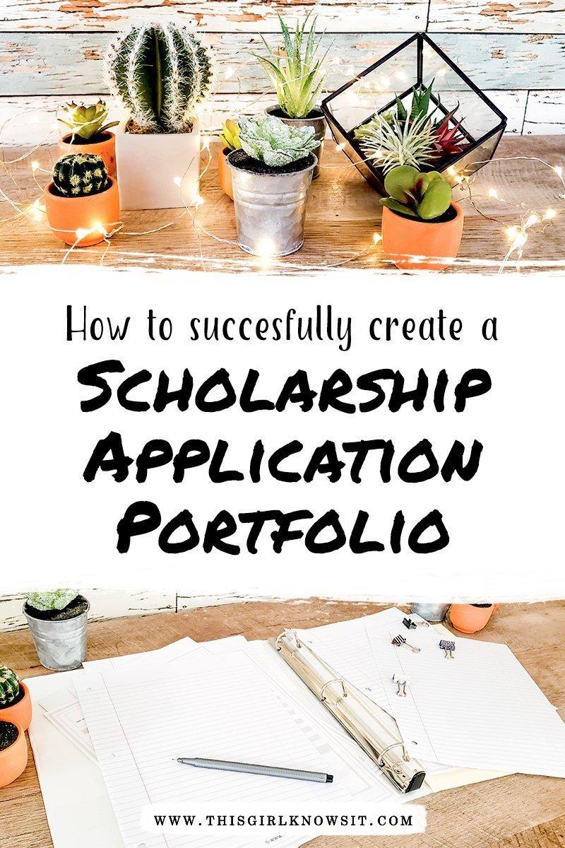 How to Create a Scholarship Application Portfolio