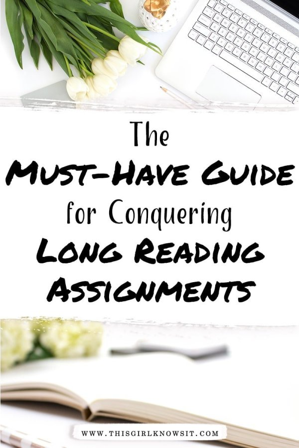 College students are swamped with homework and studying, and long reading assignments don't make it any easier. But they don't have to be hard! Check out this post for the must-have guide on conquering long reading assignments. #college #university #homework #reading #studying
