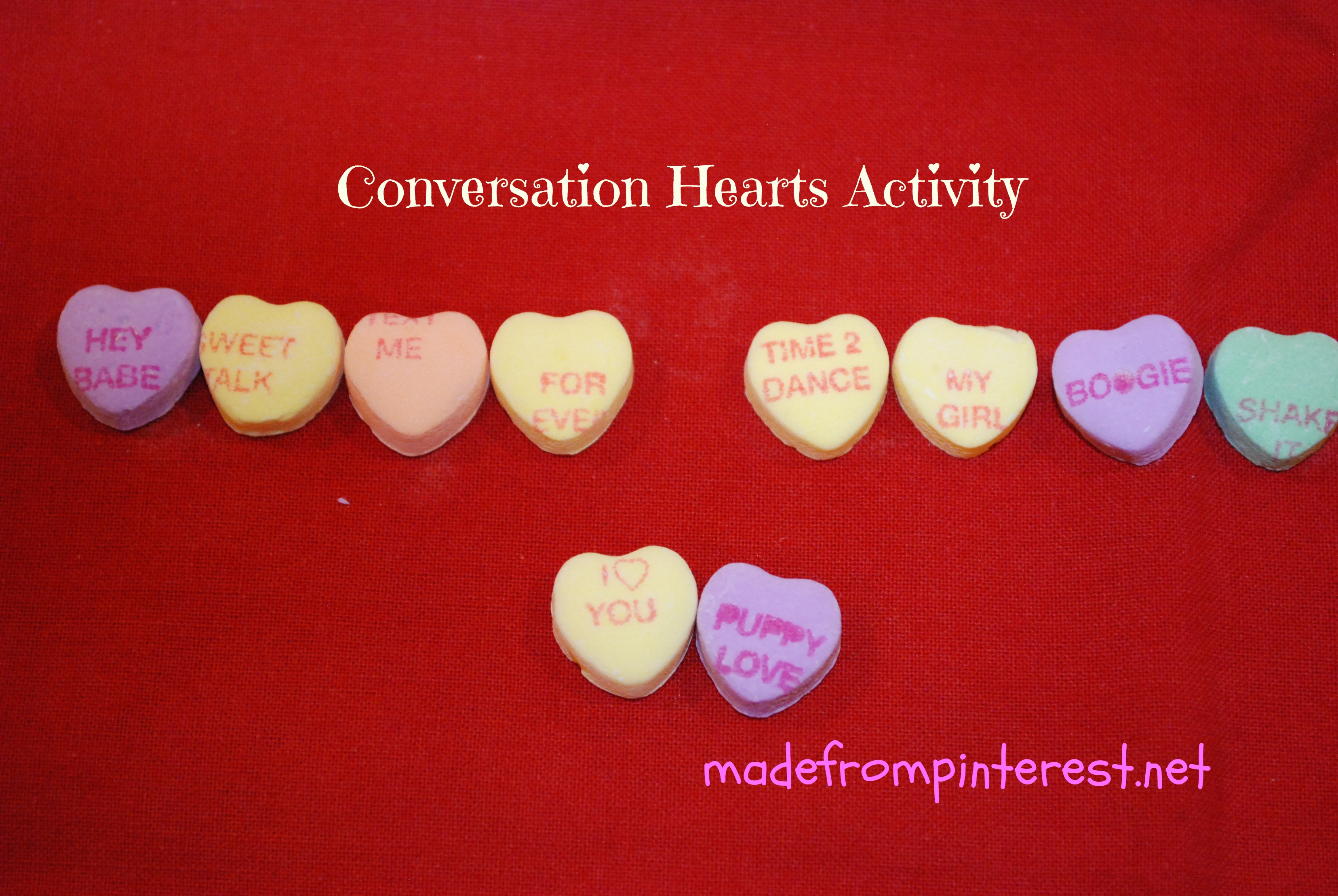 Conversation Hearts Activity