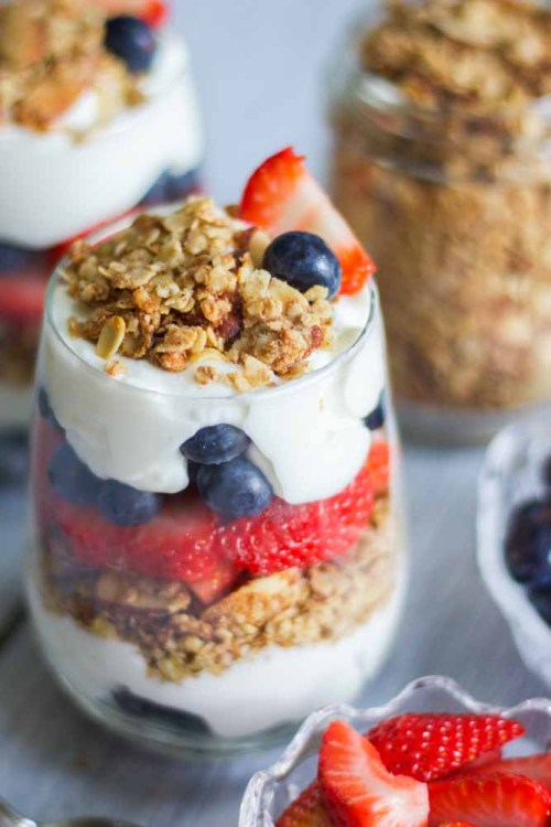 red, white & blue yogurt parfaits red white and blue breakfasts
