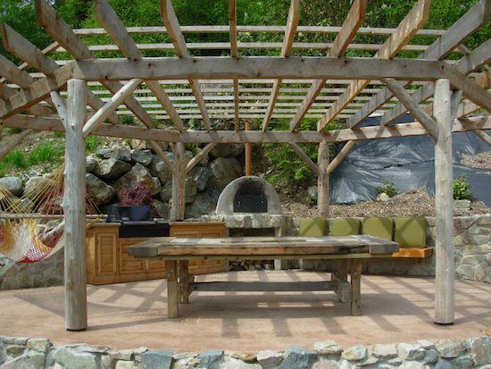 patio with hammock