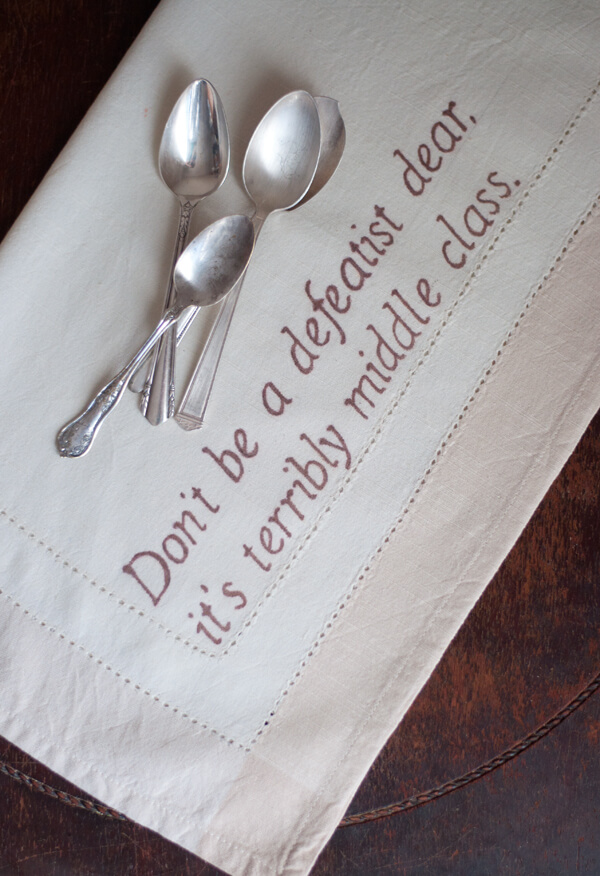 Downton Abbey Quote Napkins 1