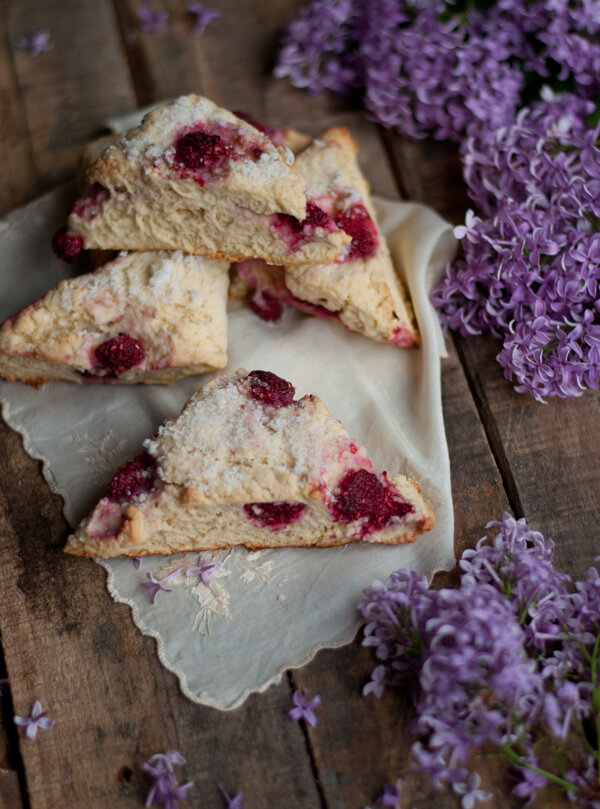Lilac Sugar and Raspberry Scones 1