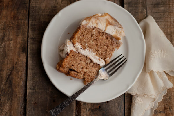Apple Cake with Cinnamon Whipped Frosting | this heart of mine