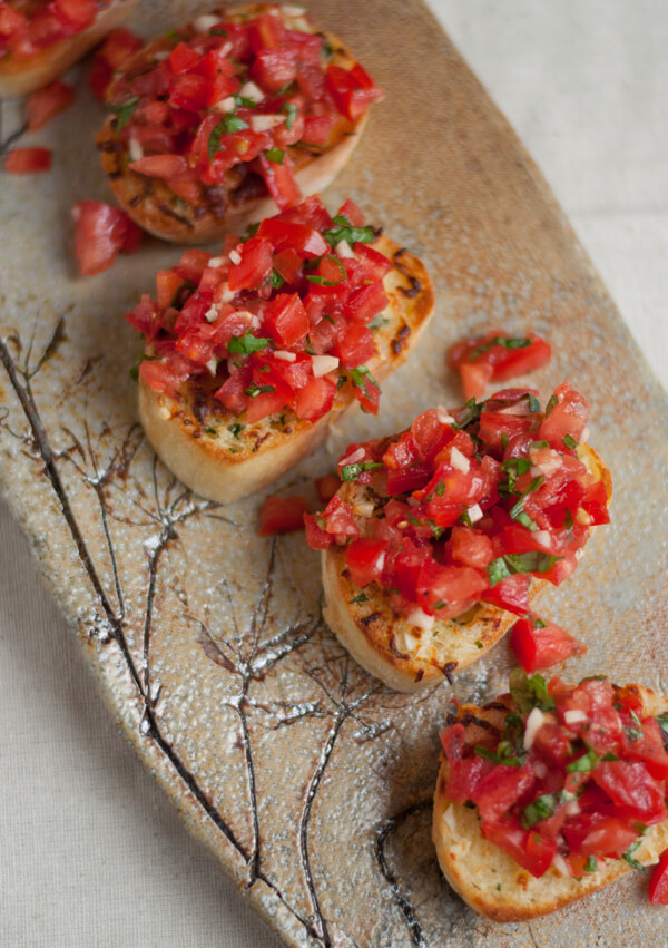 Bruschetta with Garlic Mozzarella Toast | this heart of mine
