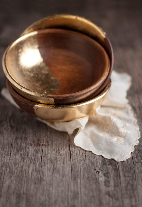wooden bowls with gold leaf this heart of mine