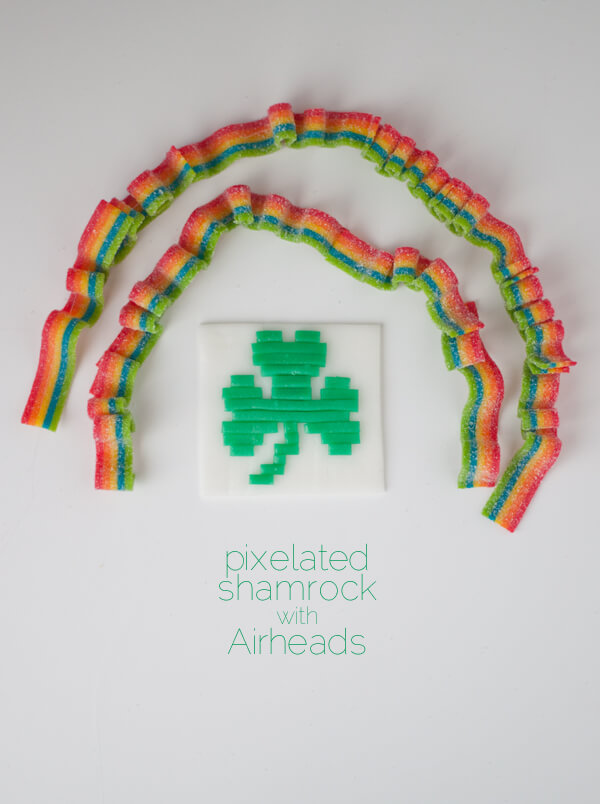 Pixelated Shamrock with Airheads! | this heart of mine