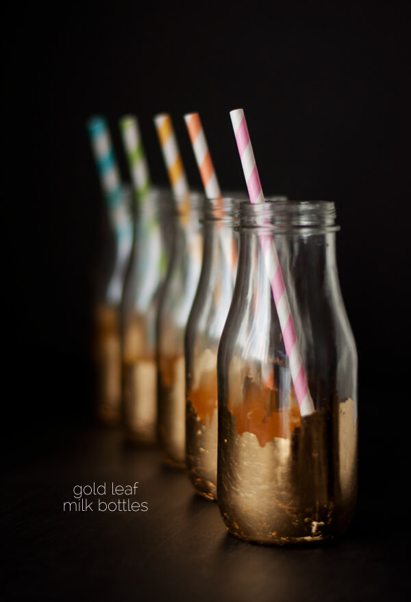 Gold Leaf Milk Bottles | this heart of mine