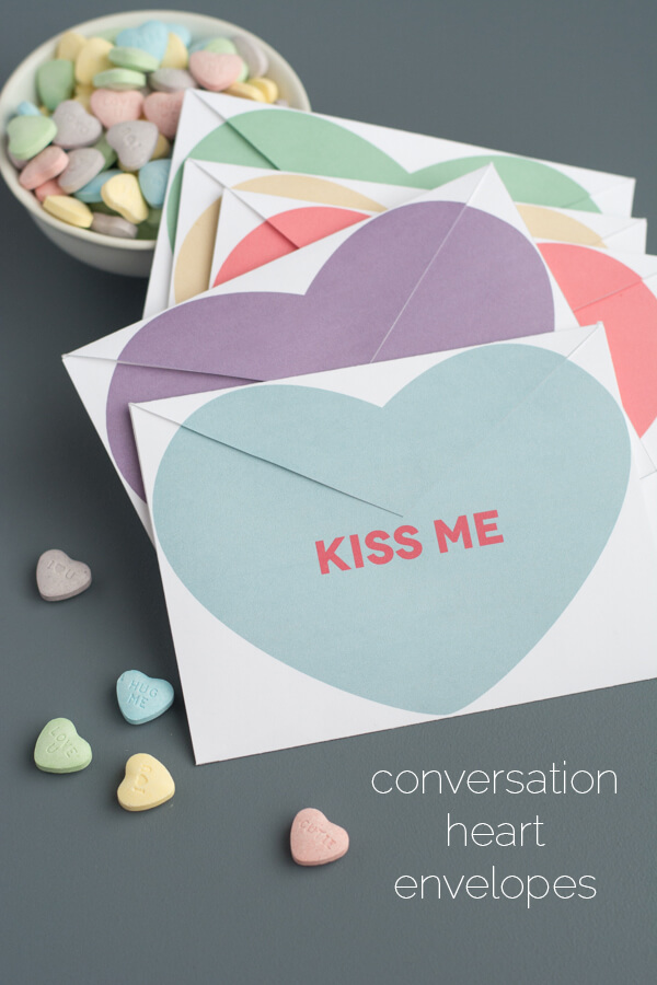 photo regarding Printable Conversation Hearts titled Printable Communication Center Envelopes this center of mine