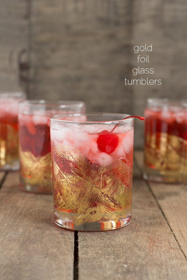Gold Foil Tumblers | this heart of mine
