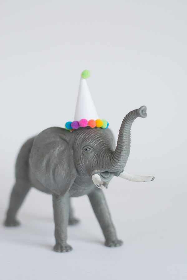 How to Make Party Hats for Plastic Animals | this heart of mine