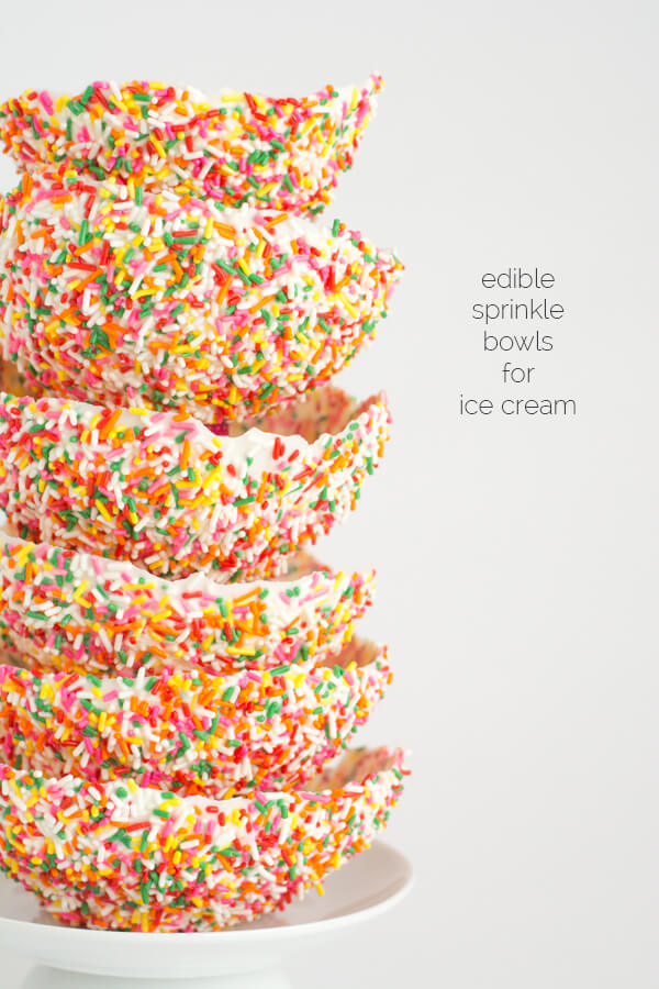Make Your Own Edible Sprinkle Bowl for Ice Cream! | this heart of mine