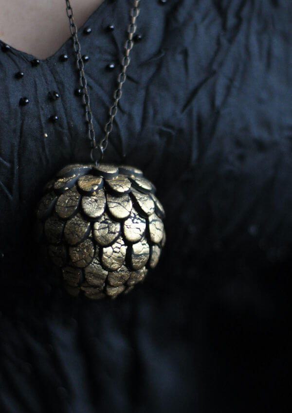 Artichoke-Shaped Polymer Clay  Bauble