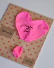 Easy Valentines Idea - Balloon Message