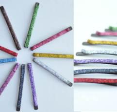 Glittered Bobbi Pins