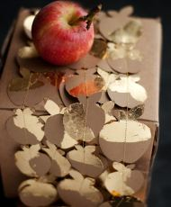 Gold Leaf Apple Garland