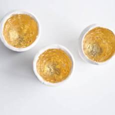 Gold Leaf Plaster Votives
