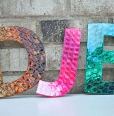 Polymer Clay Letters