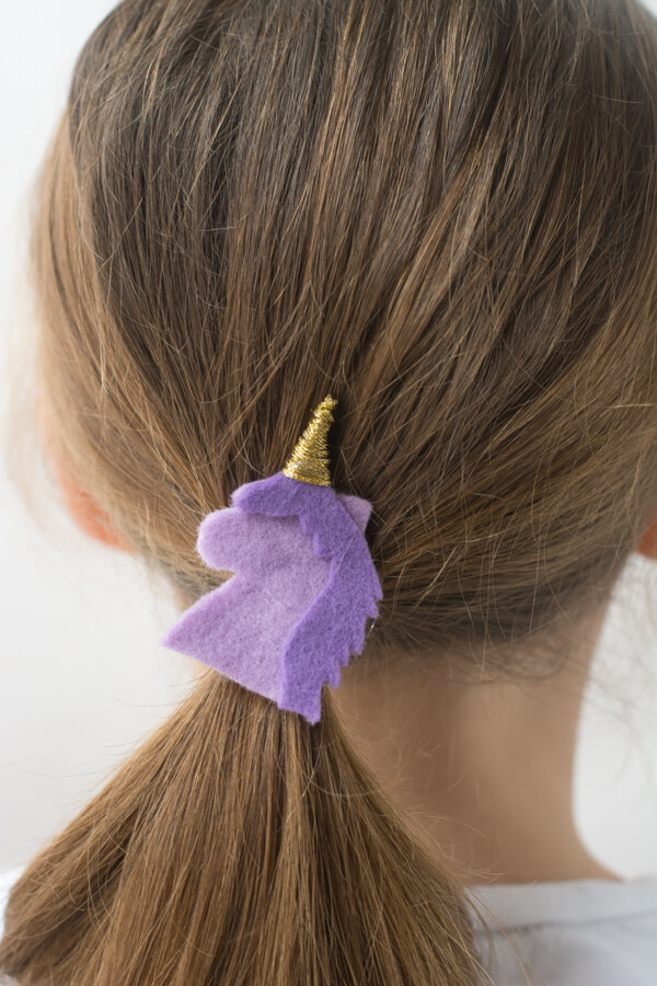 Add Flair to Your Hair with Felt Hair Ties | this heart of mine