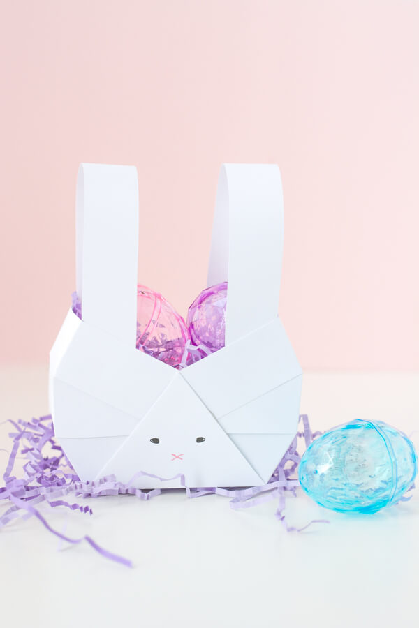 A Paper Bunny Basket Simple Easy So Adorable This Heart Of Mine