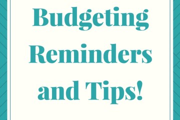 budgeting reminders and tips | This Indulgent Life | personal budget | budget categories
