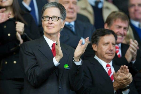 LIVERPOOL, ENGLAND - Sunday, October 17, 2010: Liverpool's owner John W. Henry during the 214th Merseyside Derby match against Everton at Goodison Park. (Photo by David Rawcliffe/Propaganda)