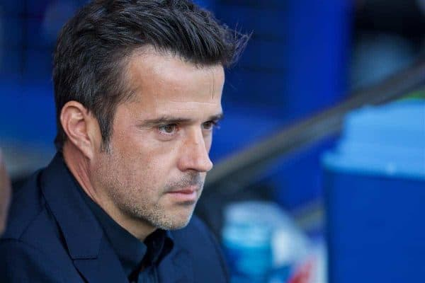 LIVERPOOL, ENGLAND - Saturday, September 21, 2019: Everton's manager Marco Silva during the FA Premier League match between Everton FC and Sheffield United FC at Goodison Park. (Pic by David Rawcliffe/Propaganda)