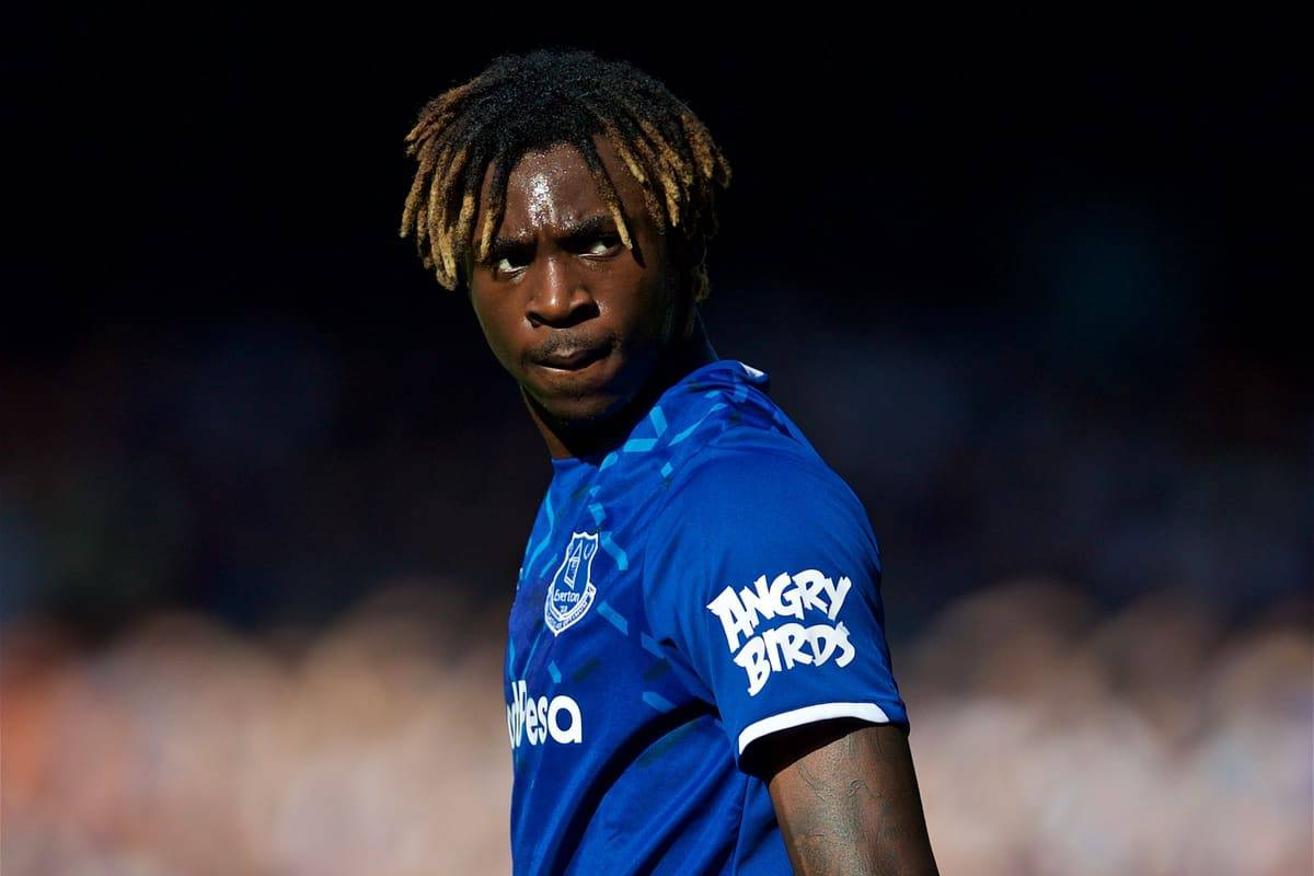 LIVERPOOL, ENGLAND - Saturday, September 21, 2019: Everton's Moise Kean during the FA Premier League match between Everton FC and Sheffield United FC at Goodison Park. (Pic by David Rawcliffe/Propaganda)