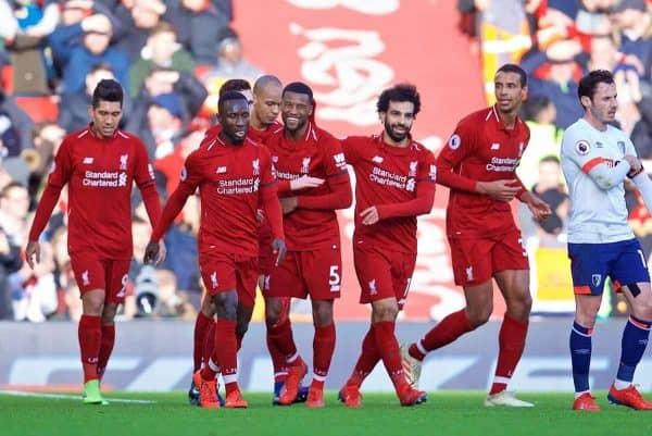 Image result for liverpool 3-0 bournemouth  5-time league winner Souness advises Liverpool's Klopp on only way to beat Man City to title P190209 050 Liverpool Bournemouth e1549727107624 600x401