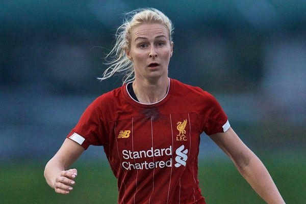 BOSTON, MASSACHUSETTS, USA - Monday, July 22, 2019: Liverpool's Rhiannon Roberts during a friendly match between Liverpool FC Women and Metropolitan Conference All Stars at Jordan Field at the Harvard Stadium on day seven of the club's pre-season tour of America. (Pic by David Rawcliffe/Propaganda)