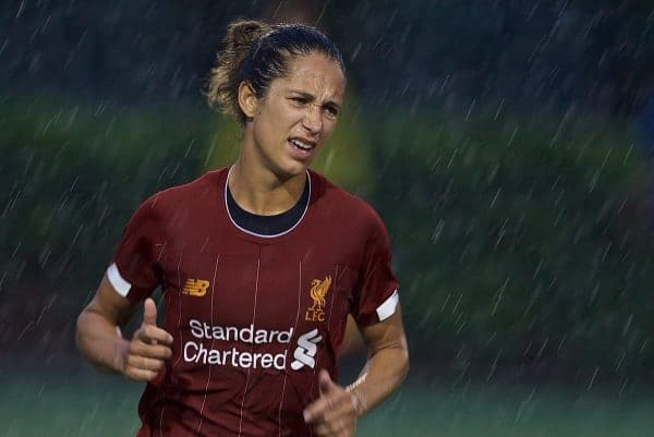BOSTON, MASSACHUSETTS, USA - Monday, July 22, 2019: Liverpool's Courtney Sweetman-Kirk during a friendly match between Liverpool FC Women and Metropolitan Conference All Stars at Jordan Field at the Harvard Stadium on day seven of the club's pre-season tour of America. (Pic by David Rawcliffe/Propaganda)