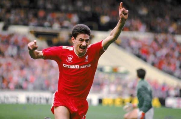 Liverpool's Ian Rush celebrates after putting his team in front against Everton (Picture by: Peter Robinson / EMPICS Sport)