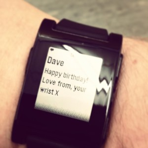 Pebble SMS notification example