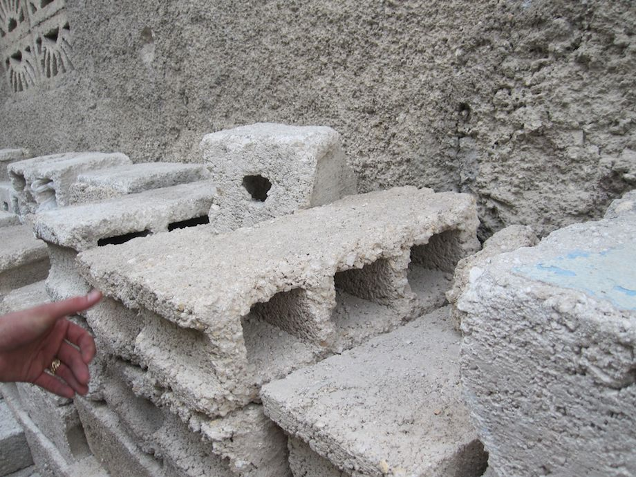 Concrete block in poor countries from a broken supply chain