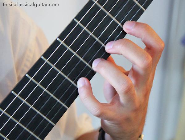 Left Hand Fingers - Classical Guitar