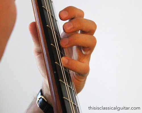Left Hand Fingers (fourth finger) - Classical Guitar