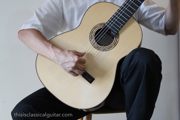 Right Hand Position (Ponticello) - Classical Guitar