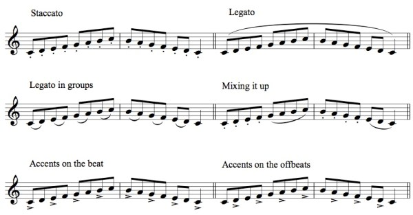 Practicing Scales with Articulation
