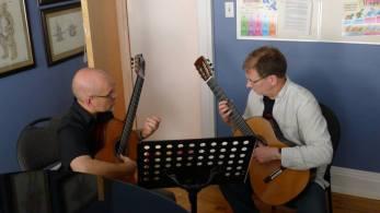 Tim Phelan teaching Frank Denton