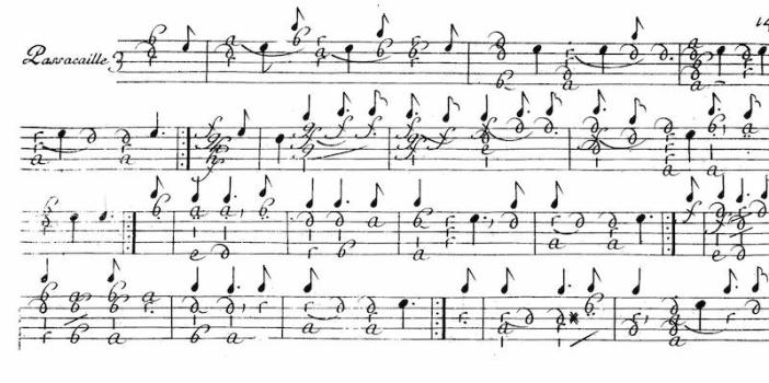 De Visee Passacaille in D minor p.1