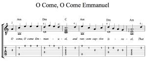 O Come Emmanuel - Guitar -TAB