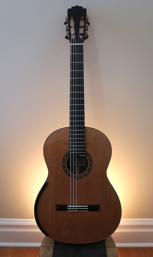 for sale refinished dominelli classical guitar this is classical guitar. Black Bedroom Furniture Sets. Home Design Ideas