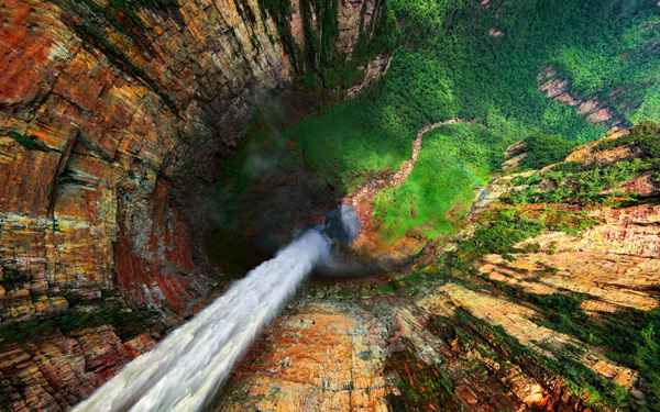 An Interactive 360° Aerial Panorama of the Worlds Highest Waterfall waterfalls Venezuela photography