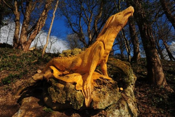 Guerilla Tree Sculptor in North Yorkshire Identified (is not Banksy) wood trees sculpture art