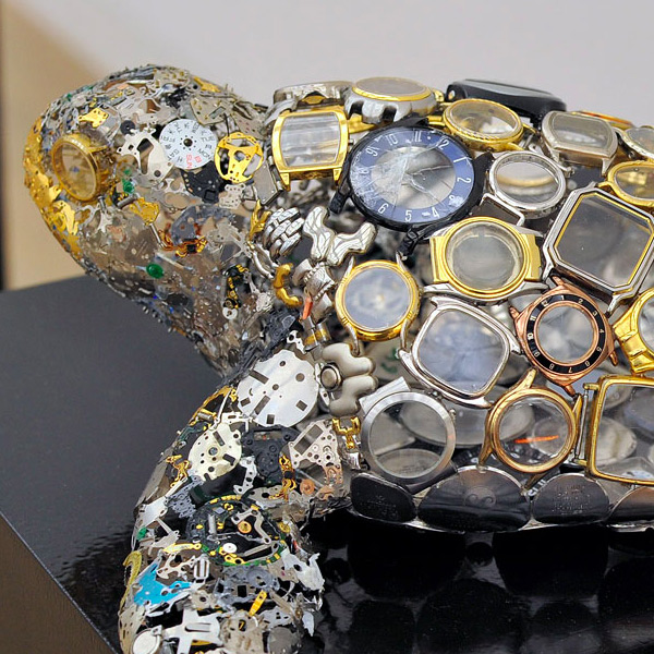Watch Part Sculptures by Natsumi Honda watches sculpture multiples animals
