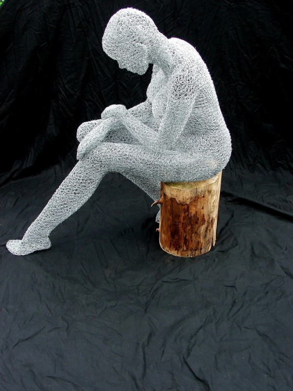 Wire Sculptures by Derek Kinzett wire sculpture art