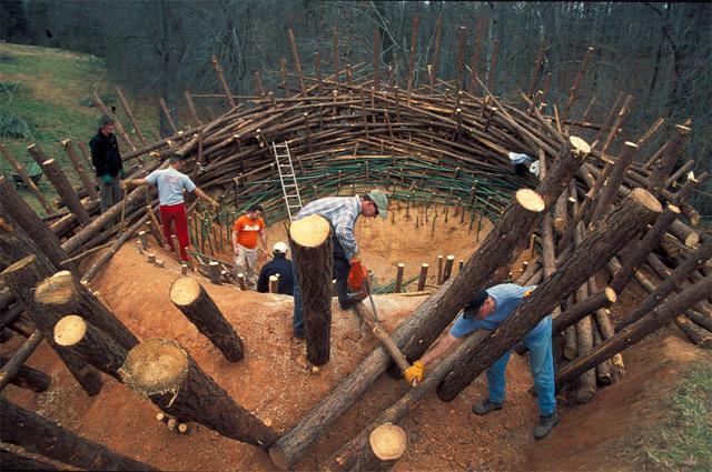An 80 Ton Birds Nest Built at the Clemson University Botanical Gardens sculpture nests installation birds art