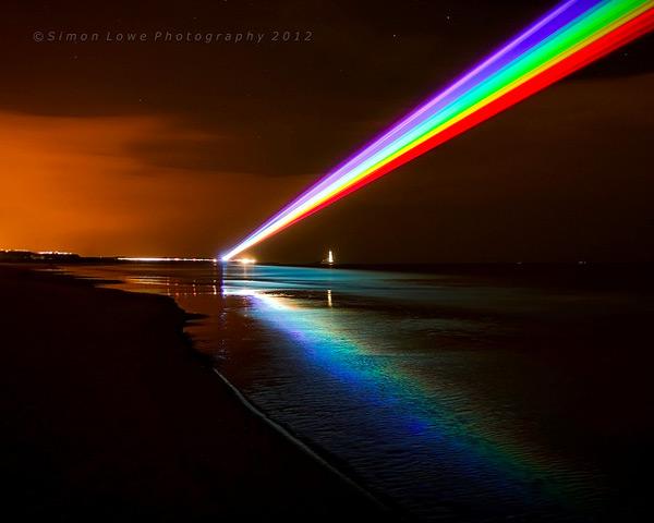 Global Rainbow rainbows light lasers installation art