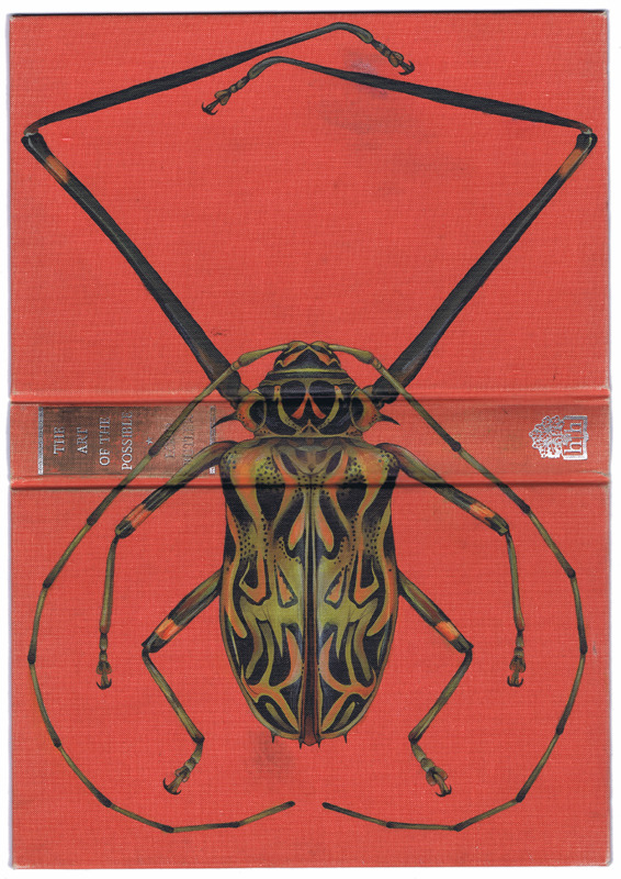 Bugs on Book Covers painting insects books art